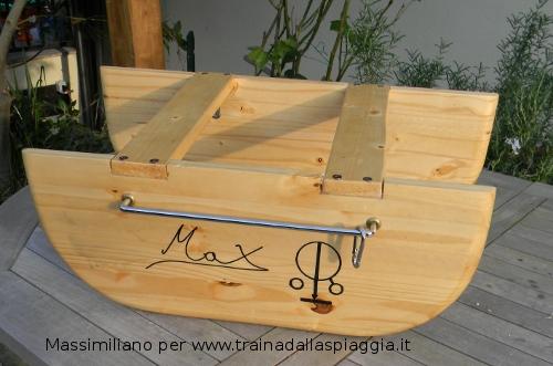 barchino costruito da Massimiliano
