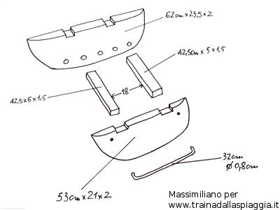 misure divergente barchino costruito da Massimiliano