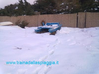 pattino nella neve